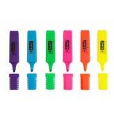 Zvýrazňovače sada 6 barev