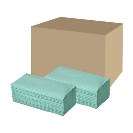 Papírové ručníky ZZ, 1Vr., Zelené / 20*210 útržků