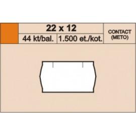 Etikety kotoučkové 22x12 bílé