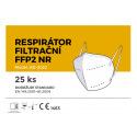 Respirátor FFP2 25ks v balení