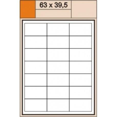 etikety 63x39,5 bílé A4