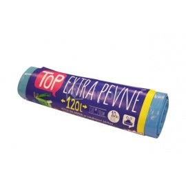 Pytel TOP s páskou 120L, 10ks modrý