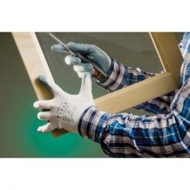Rukavice nylonové nitrilová dlaň